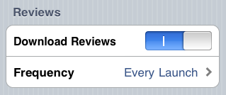 Enable Reviews