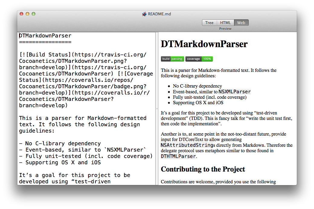 DTMarkdownParser Mac Demo