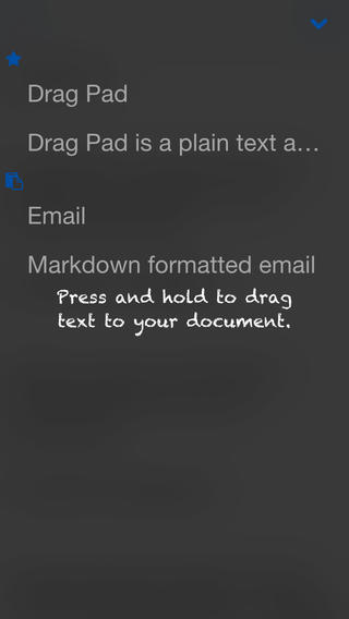 Drag Pad using DTCore Text